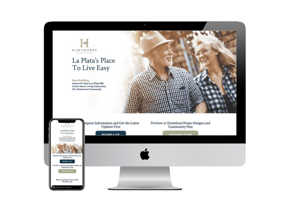 PC Mockup of home builder website